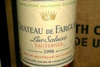 De Fargues Sauternes 1998 Great Sweet Wine