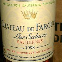 De Fargues Sauternes 1998 Great Sweet Wine