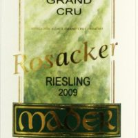 Jean Luc Mader Rosacker Grand Cru Alsace Riesling 2011