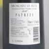 Patrizi Moscato d'Asti 2018 Back Label