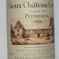 Vieux Chateau Certain 2010 Bordeaux Dinner 2010