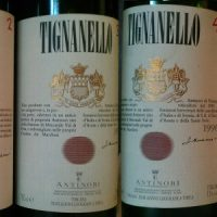 Tignanello 2000 1999 1997 1996 1995 1987
