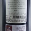 Conde de Valdemar Rioja Reserva 2010 Back Label
