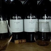 Gaja at Matteo's ripe for decanting