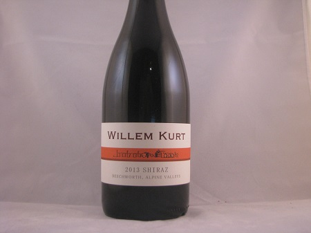 Willem Kurt Beechworth, Alpine Valleys Shiraz 2013