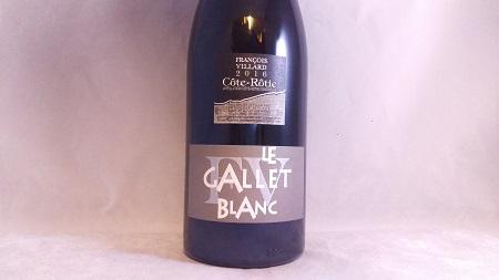 Francois Villard Le Gallet Blanc Cote Rotie 2014