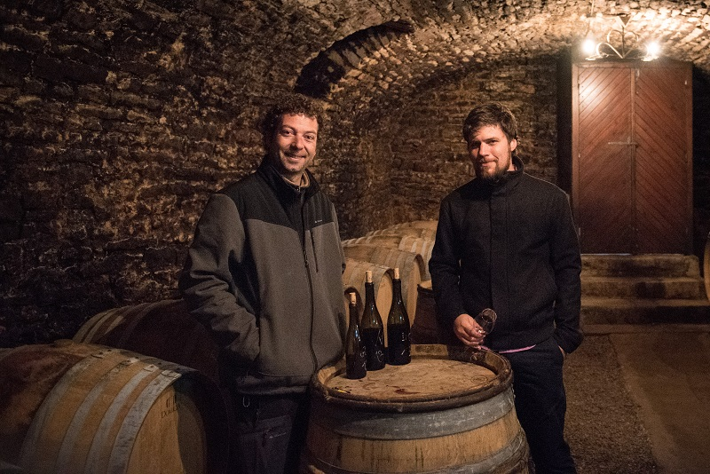 Phillippe and Philip Tasting in Gevrey