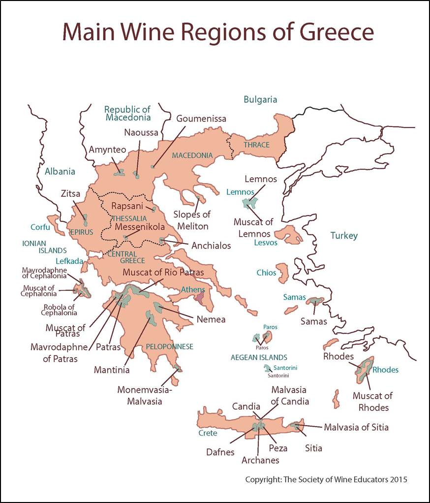 Lemnos Greece Map.Introduction To Greek Wine The Wine Depository