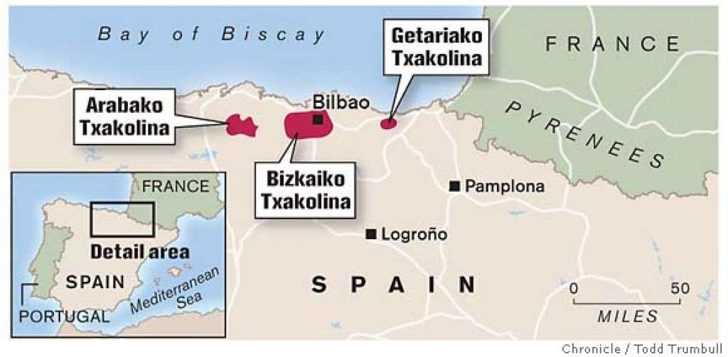 Image result for Txakolina region