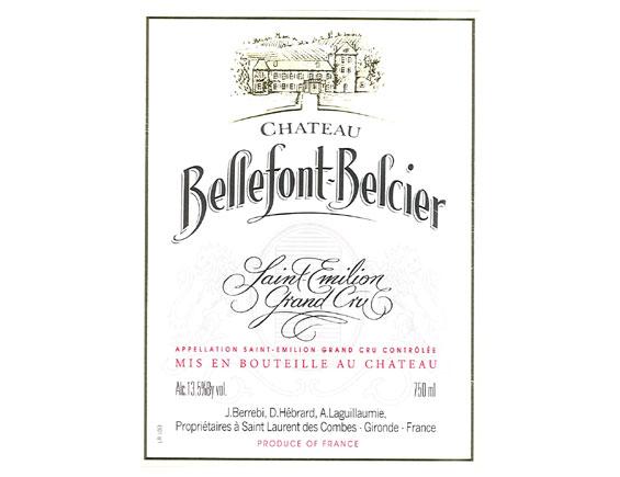 Chateau Bellefont-Belcier St-Emilion Grand Cru Classe 2001