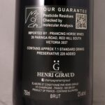 Champagne Henri Giraud Esprit Brut Nature NV Back Label