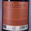 Nittnaus Kalk und Schiefer Burgenland Blaufrankisch 2013 Back Label