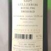 Emmerich Knoll Kellerberg Riesling Smaragd 2007 Back Label
