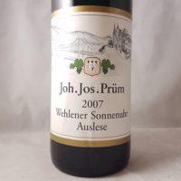 JJ Prum Wehlener Sonnenuhr Riesling Auslese Goldkapsel 2007 1500ml a
