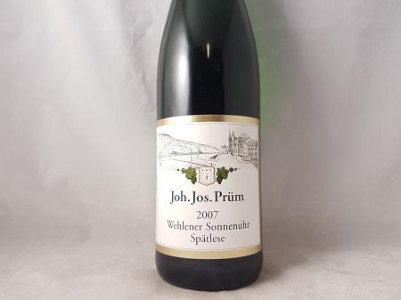 JJ Prum Wehlener Sonnenuhr Riesling Spatlese 2007