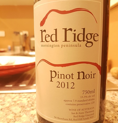 Red Ridge Mornington Peninsula Pinot Noir 2012