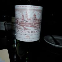 Chateau Cos d'Estournel St-Estephe 2nd Growth 1975 Great Old Bordeaux
