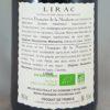 Domaine De La Mordorée Cuvée de la Reine des Bois Lirac Blanc 2014 Back label