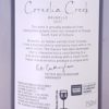 Cornelia Creek Brunello Central Victoria 2013 Back Label