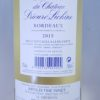 Le Blanc Du Prieure Lichine Bordeaux AOC 2015 Back Label