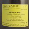 Francois Chidaine Touraine Sauvignon Blanc 2017 Back Label