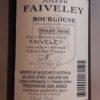 Joseph Faiveley Bourgogne Rouge 2015 375ml Back Label