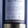 Chateau Beauregard Pomerol 2009 Back Label