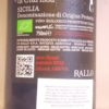 Rallo Bianco La Clarissa Syrah Sicilia IGT 2015 Back Label