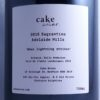 Cake Sagrantino When Lightning Strikes Adelaide Hills 2016 Back label