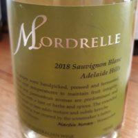 Mordrelle Wines Sauvignon Blanc Adelaide Hills 2018