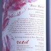 Reed Rose Marie Heathcote Tempranillo 2017 Back Label