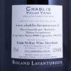 Domaine Roland Lavantureux Chablis Vieille Vignes 2016 Back Label