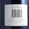 Picardy Pemberton Shiraz 2014 Back label