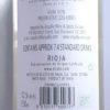 El Coto Blanco Rioja 2017 Back Label