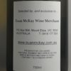 Domaine de Mourchon La Source Cotes du Rhone Blanc 2016 Back Label