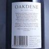 Oakdene Blue Label Pinot Noir Geelong 2017 Back Label