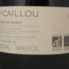 Le Clos du Caillou Le Caillou Cotes du Rhone Blanc 2013 Back Label