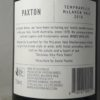 Paxton McLaren Vale Tempranillo 2019 Back Label