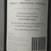 Three Dark Horses Shiraz Grenache Touriga 2018 Back Label