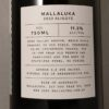 Mallaluka Aligote King Valley 2020 Back Label