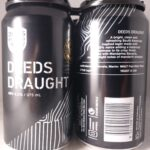 Deeds Brewing Deeds Draught 375ml Back Label