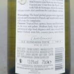 Errazuriz Aconcagua Valley Chardonnay 2013 Back Label