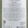 Leeuwin Estate Art Series Margaret River Chardonnay 2018 Back Label